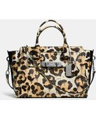 Coach Swagger Carryall In Wild Beast Print Pebble Leather - Lyst