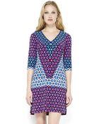 Donna Morgan Geometric Print Shift Dress - Lyst