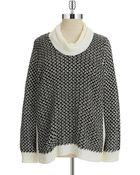 Calvin Klein Plus Basketweaved Knit Sweater - Lyst
