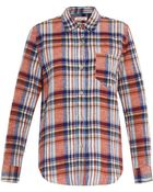 Etoile Isabel Marant Tom Checked Cotton-Blend Shirt - Lyst