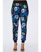 Missguided Plus Size Cuff Hem Trousers Floral Print - Lyst