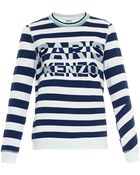 Kenzo Striped And Embroidered Sweatshirt - Lyst
