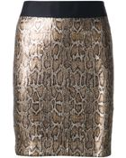 Roseanna 'Berlin' Python Mini Skirt - Lyst