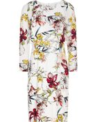 Reiss Lottie Printed Silk Dress - Lyst