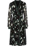 Proenza Schouler Printed Silk-Chiffon Dress - Lyst