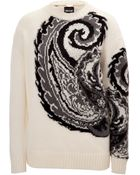 Just Cavalli Wool-Mohair Paisley Pullover - Lyst