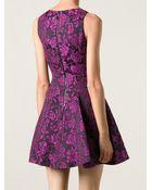 Alice + Olivia Floral Jacquard Dress - Lyst