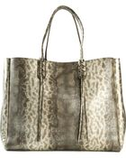 Lanvin Sheepskin and Leather Shopper Tote - Lyst