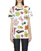 Moschino Printed Cotton T-Shirt - Lyst