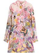 Mary Katrantzou Printed Silk Shirt Dress - Lyst