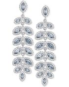 Swarovski Rhodium-Plated Crystal Drop Earrings - Lyst