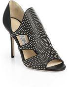 Jimmy Choo Tarine Studded Cutout Sandals - Lyst
