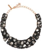 Oscar de la Renta Gold-Plated, Resin And Crystal Necklace - Lyst