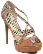 Jessica Simpson Leather Peep-Toe Pumps - Lyst