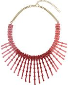 Topshop Red Multicoloured Stick Necklace - Lyst