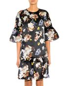 Erdem Logan Floral-Print Silk-Organza Dress - Lyst