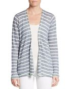 C&c California Striped Open-Front Cardigan - Lyst