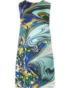Stella McCartney Barton Printed Silk-Satin Dress - Lyst
