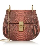 Chloé Drew Small Python Shoulder Bag - Lyst