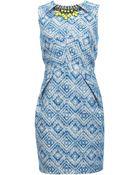 Matthew Williamson Ikat Linen Embroidered Dress - Lyst