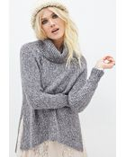 Forever 21 Heathered Turtleneck Sweater - Lyst
