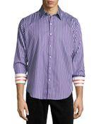 Robert Graham Abingdon Striped Sport Shirt - Lyst