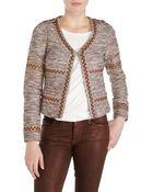 Scotch & Soda Rose Embroidered Tweed Blazer - Lyst