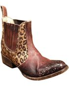 Freebird by Steven Bovine Leather And Hair Calf Ankle Boots - Lyst