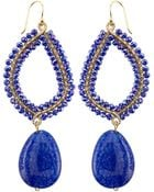 Panacea Wire-Wrapped Crystal-Drop Earrings - Lyst