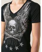 Philipp Plein Embellished Skull T-Shirt - Lyst