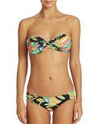 Trina Turk Printed Bandeau Bikini Top - Lyst