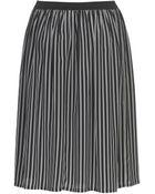 Stefanel Crepe De Chine Skirt - Lyst