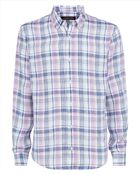Jaeger Check Tailored Fit Button Down Shirt - Lyst