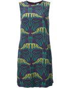 M Missoni Printed Shift Dress - Lyst