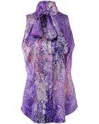 L'Wren Scott Tie Neck Floral Blouse - Lyst