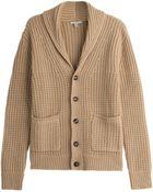 Burberry Brit Wool-Cashmere Shawl Collar Cardigan - Lyst