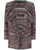 St. John Lockram Space Dye Draped Cardigan - Lyst