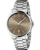 Gucci Ya126317 G-Timeless Slim Collection Stainless Steel Watch - For Men - Lyst