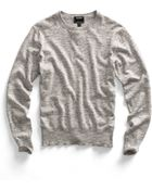Todd Snyder Heather Grey Crew Sweater - Lyst