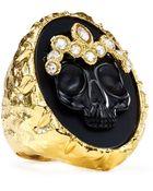 Alexis Bittar Black Agate Skull Cameo Ring - Lyst