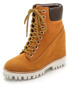 Jeffrey Campbell Wallace Hidden Wedge Boots - Wheat - Lyst