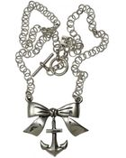 Femme Metale Jewelry Bow With Anchor Necklace - Lyst