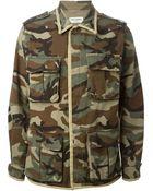 Saint Laurent Camouflage Jacket - Lyst