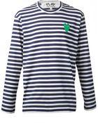 Play Comme des Garçons Striped T-Shirt - Lyst