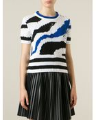 Ermanno Scervino Distressed Intarsia Sweater - Lyst