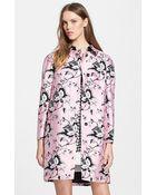 Diane von Furstenberg 'Amana' Floral Print Wool & Silk Coat - Lyst