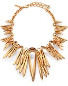 Oscar de la Renta Chevron Bib Necklace - Lyst