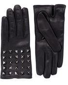 Valentino 'Rockstud' Leather Gloves - Lyst