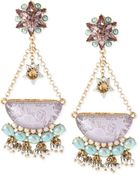 Betsey Johnson Gold-Tone Star And Cloud Chandelier Drop Earrings - Lyst