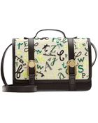 Olympia Le-Tan Letters All Over Embroidered Leather Satchel - Lyst